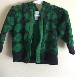 Green/ Navy zip-up sweatshirt